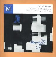 45 T CLUB FRANÇAIS DU DISQUE: Mozart, Symphonie En Sol Majeur, Musique Funèbre Maçonnique - Classical