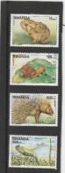 9] Série Complete Set ** Rwanda Faune Fauna Crapaud Toad Escargot Snail Porc-épic Porcupine Cameleon Chameleon 1997 - 1990-99: Oblitérés