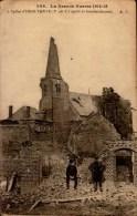 GUERRE 1914-1915..L'EGLISE D'HERUTERNE (62) APRES BOMBARDEMENT.....CPA ANIMEE - War 1914-18