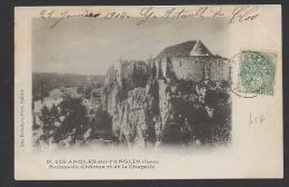 DF / 86 VIENNE / ANGLES-SUR-L'ANGLIN / RUINES DU CHÂTEAU ET DE LA CHAPELLE / CIRCULÉE EN 1904 - France