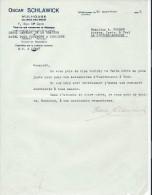 Lettre/Demande De Tarif/Fabrique D´Instrument De Musique/ Oscar SCHLAWICK/Mulhouse/Courbe /La Couture/1935     PART150 - Autres