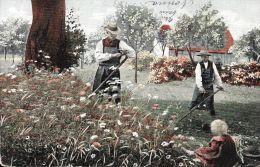 [DC5124] CARTOLINA - AGRICOLTURA - CONTADINI - BAMBINO - Viaggiata 1903 - Old Postcard - Non Classificati