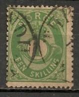Timbres - Norvège - 1872/76 - 1 Skilling - - Norvège
