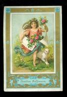 Calendrier  Calendar  Kalender 1886  Amidon Hoffmann  -  Chat  Kat - Calendriers