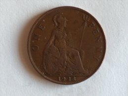 Grande-Bretagne 1 Penny 1928 - 1902-1971 : Monnaies Post-Victoriennes