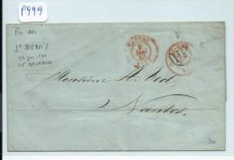 FRANCE - REUNION  LETTRE  DE LA REUNION POUR LA FRANCE  1844  A ETUDIER - Réunion (1852-1975)