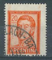 VEND TIMBRE D ´ ARGENTINE , N° 781 + VARIETE : MACULAGE !!!! (b) - Oblitérés