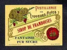 Etiquette De Liqueur: Sirop De Framboises (12 X 8´5 Cms) (Ref.73687) - Labels