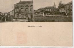 57 NIDERHOFF  -  Lothringen  - NIEDERHOF  - Carte Deux Vues - Autres Communes