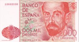 2000 PTS REY J. CARLOS I 1980  SIN CIRCULAR - [ 4] 1975-… : Juan Carlos I