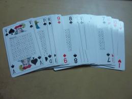 "JEU DE CARTES ""32 Cartes Plastifiees + SUDOKU"" - Cartes à Jouer Classiques"
