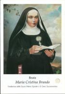 BEATA MARIA CRISTINA BRANDO -  CON RELIQUIA - Mm. 83X120 - M - PR - Religione & Esoterismo