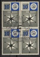 PIA - OLANDA - 1957 :  Europa  - (Yv 678-79 X 4) - Europa-CEPT