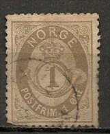 Timbres - Norvège - 1882/92 - 1 Ore - - Norvège