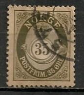 Timbres - Norvège - 1917 - 35 Ore -