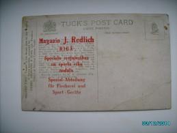 IMPERIAL RUSSIA LATVIA RIGA J. REDLICH FISHING EQUIPMENT ADVERTISEMENT ON TUCK`S TENCH FISH   , OLD POSTCARD , 0 - Publicidad