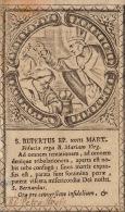 Image Religieuse Ancienne 18èm Saint Rupertus - Images Religieuses