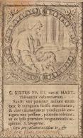 Image Religieuse Ancienne 18èm Saint Sixtus - Imágenes Religiosas