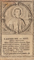 Image Religieuse Ancienne 18èm Saint Amadeus - Images Religieuses