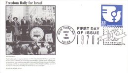 US  -  B´nai B´rith Philatelic  FDC  -  Freedom Rally For Israel  -  Premier Jour D´Emission - Storia