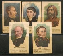 ARGENTINA - Cigarrillos GAVILAN - PERSONALITIES - Set Of 5 Cards - Cigarette Cards