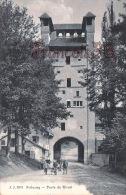 (FR) Fribourg - Porte De Morat - Légère Déchirue En Bas à Gauche - 2 SCANS - FR Fribourg