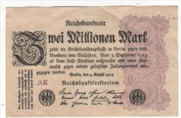 - ALLEMAGNE -  Billet De 2 Million De Mark - BERLIN  :  Août 1923 - - 2 Millionen Mark