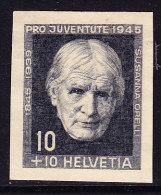 Pro Juventute 1945 - Susanna Orelli (Kopf Leicht Nach Links) Essay - Stichtiefdruck Auf Festem Papier Aus Bickel Archiv - Neufs