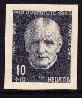 Pro Juventute 1945 - Susanna Orelli Ungezähnter Probedruck - Stichtiefdruck Auf Festem Papier Aus Bickel Archiv - Neufs
