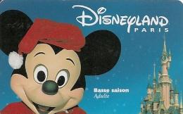 PASS--DISNEYLAND-MICKEY-A DULTE-BASSE SAISON-SPEOS-1999/02/MIK- TB E - Pasaportes Disney
