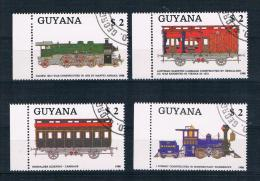 Guyana 1989 Eisenbahn Mi.Nr. 2475/78 Kpl. Satz Gestempelt - Guyana (1966-...)