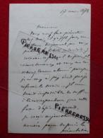 L A S LAURENT PICHAT LETTRE AUTOGRAPHE 1878 - Autógrafos