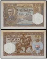 KINGDOM OF YUGOSLAVIA 50 Dinara 1931 - Yougoslavie