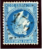 France 1863   (n°29 Ob.GC. 176 - ARS-en-Ré) - 1863-1870 Napoleone III Con Gli Allori