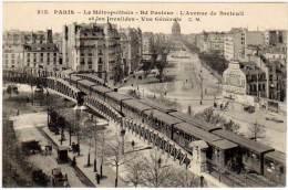 Paris - Le Métropolitain - Bd Pasteur - L'avenue De Breteuil Et Les Invalides - Vue Générale - Métro Parisien, Gares