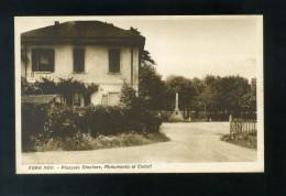 VR149 CARTOLINA NOVARA FARA NOVARESE PIAZZALE STAZIONE MONUMENTO AI CADUTI - Novara