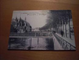 CPA 29 QUIMPER Passerelles De L' Odet 1909 Pour D' Anfreville à Paris - Quimper