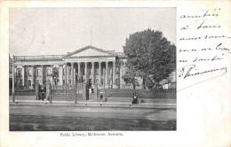 ¤¤  -   AUSTRALIE  -  MELBOURNE   -  Public Library   -  Oblitérations En 1904  -  ¤¤ - Melbourne