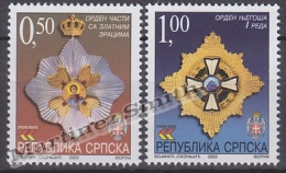 Bosnia Herzegovina - Serbia 2003 Yvert 261-62 Order Decorations - MNH - Bosnia Herzegovina