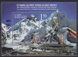 Bosnia Herzegovina - Serbia 2003 Yvert BF-8 50th Ann. First Ascension Everest - Miniature Sheet - MNH - Bosnia Herzegovina