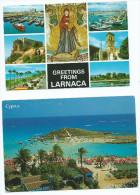 Chypre CYPRUS   Lot De 2 Cartes -Voir Scan R/V Des 2 Cartes Timbre Stamp  CYPRUS  KIBRIS - Chypre