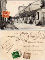 Bages - La Mairie Et Les Ecoles ( Brun Frères, Libraires / Timbre Taxe Au Verso ) - France