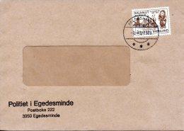 GROENLAND. N°132 De 1983 Sur Enveloppe Ayant Circulé. Histoire Du Groenland. - Grönland