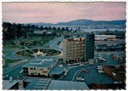 TASMANIA - HOBART - THE RAILWAY ROUNDABOUT AND TASMAN BRIDGE AT SUNSET - Vedi Retro - Hobart