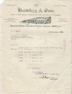 Lettre/Fabrique D´Instruments De Musique /HAMKES & Son/London /Angleterre//Courbe/La Couture Boussey/Eure/1928   PART163 - Music & Instruments