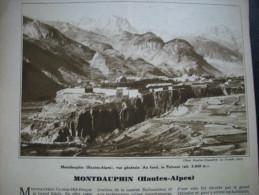- Article De Presse - Régionalisme - Montdauphin - Pelvoux - Hautes Alpes - TCF - 1936 - 3 Pages - Documenti Storici