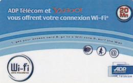 FRANCE - ADP Telecom & Yahoo Internet Promotion Prepaid Card, Mint - Frankrijk