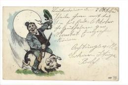 11085 - CHASSEUR COCHON .FUSIL.PORC.PORK.PIG - Chasse