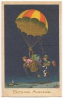 Illustrateur. Enfants. Chien & Ballon. Bonne Année. - Anno Nuovo