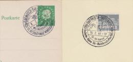 Sport 238) Zwei SSt Garmisch-Partenkirchen 1960+1961: Rodeln, Alpine Ski-Meisterschaft, Schlitten - Wintersport (Sonstige)